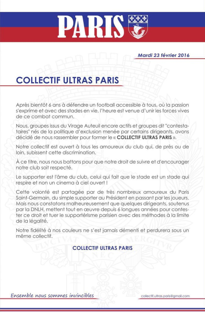 collectif ultras paris